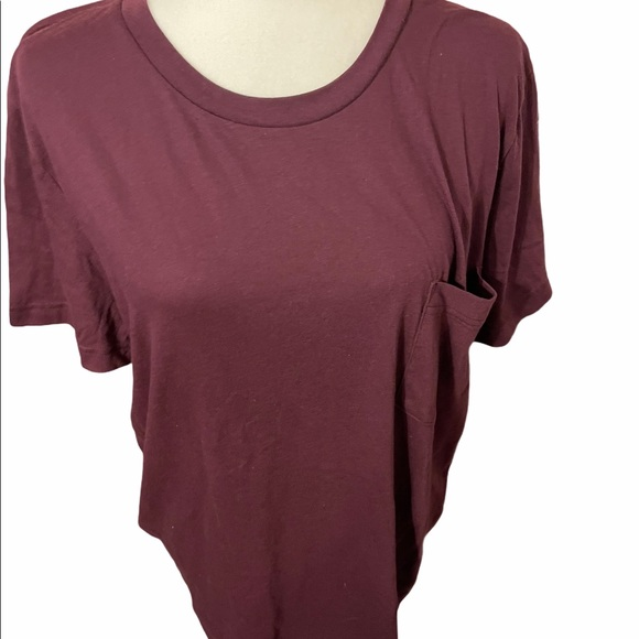 Pink Victoria's Secret T-shirt Maroon Medium